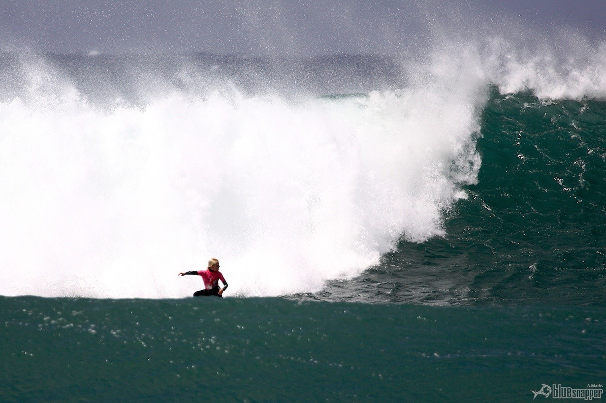 Russell charging South Palm Beach Photo by Alex Marks / Blue Snapper
