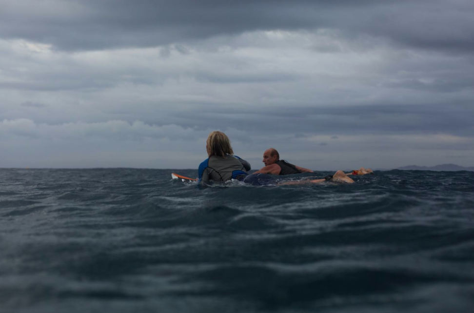 Russell & his Dad at Cloudbreak Photo by Mikey McArthur
